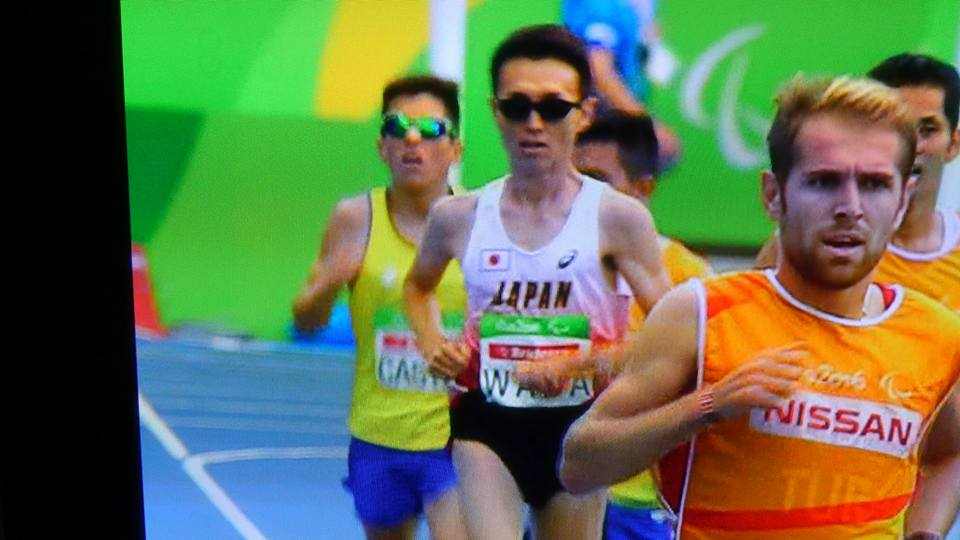 リオデジャネイロパラリンピック男子5000m(視覚障害T11)を快走する和田さん